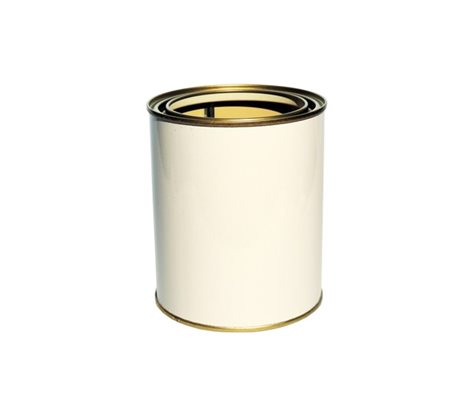 Empty Tin White 3,5 Liter