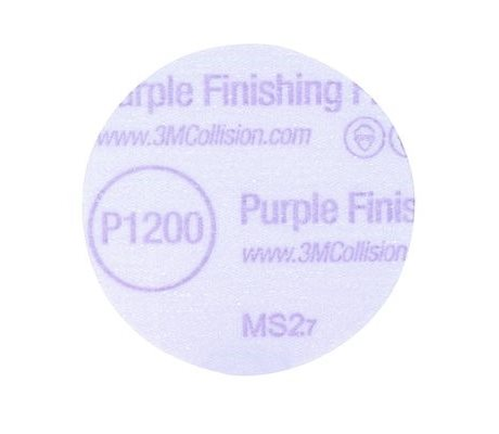 3M Hookit Purple Finishing Film Disc 76mm P1200