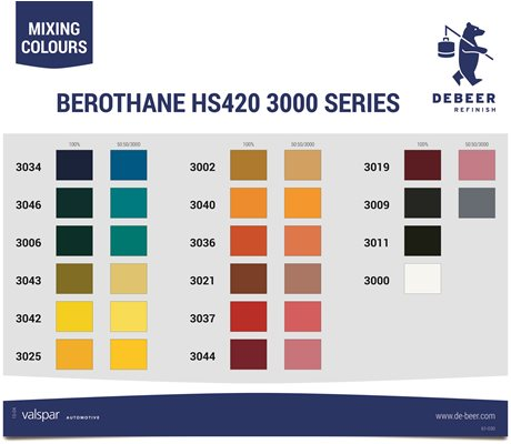 61-030 Mixing Colour Card Serie 3000