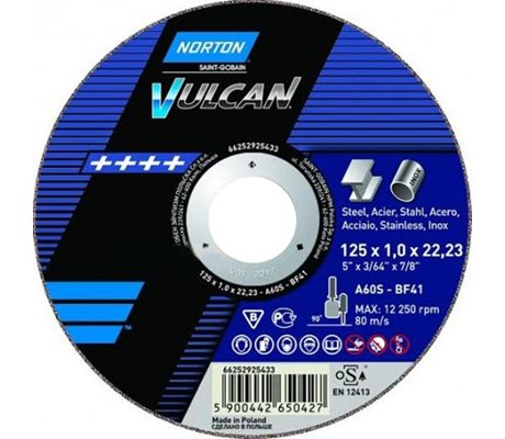 Norton Vulcan Cutting-Off Wheels 125x1x22,23mm